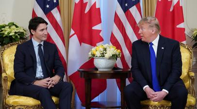 Трюдо обсудил с Трампом деэскалацию напряжённости на Ближнем Востоке