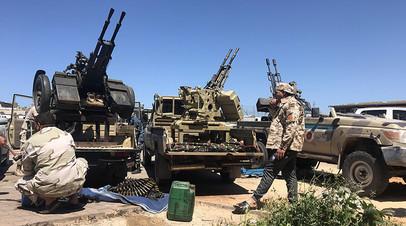 Военная техника группировки, поддерживающей правительство национального согласия