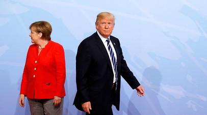 Канцлер ФРГ Ангела Меркель и президент США Дональд Трамп
