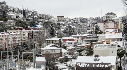 В Сочи объявили штормовое предупреждение из-за резкого похолодания