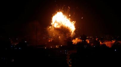 Израиль нанёс ответный удар по объектам ХАМАС