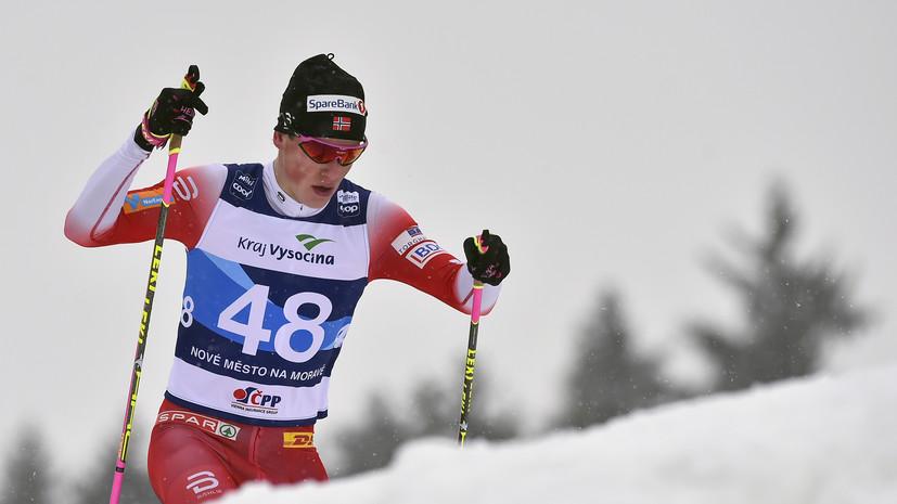 Норвежский лыжник Клебо сообщил, что пропустит этап КМ в Фалуне из-за перелома пальца