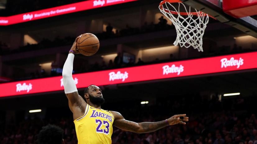 «Лейкерс» взял верх над «Сан-Антонио» в НБА, Джеймс набрал 36 очков