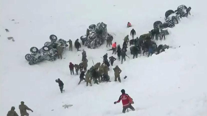 В результате схода лавины в Турции погибли 26 человек