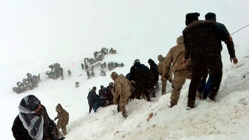 Число погибших при сходе лавин на востоке Турции возросло до 41