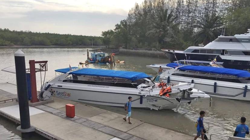 Более 20 россиян пострадали при столкновении катеров у острова Пхукет