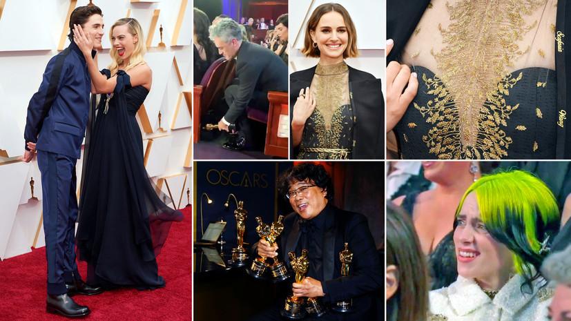 Возвращение Эминема, статуэтка под креслом и наряд Натали Портман: какие моменты «Оскара» обсуждают в соцсетях