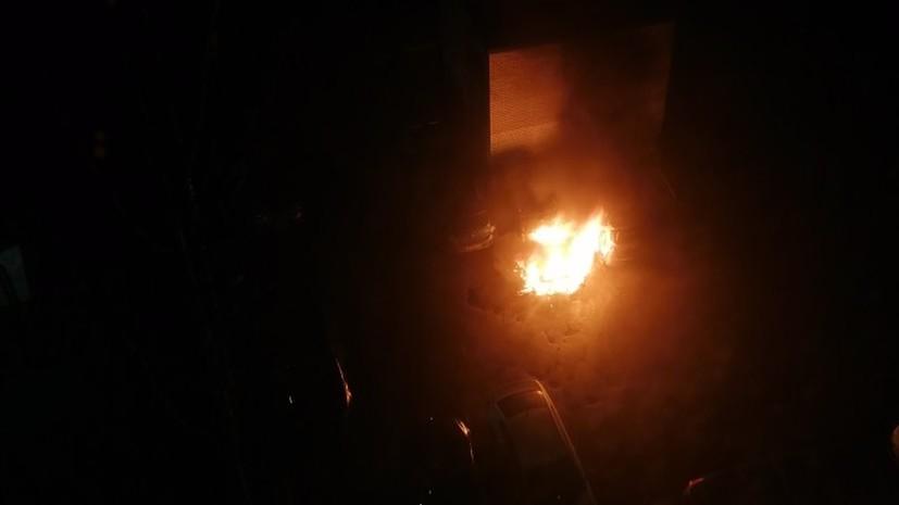 В Санкт-Петербурге сожгли автомобиль заводящего фан-сектора «Зенита»