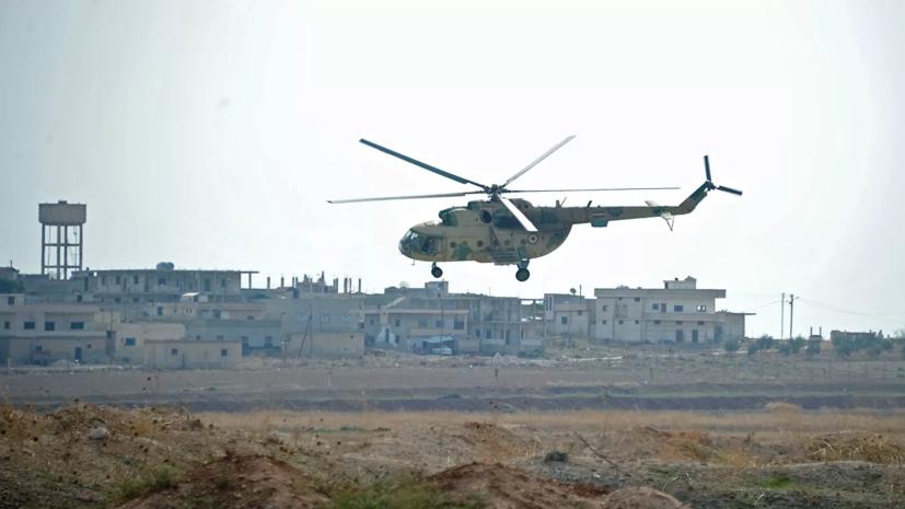 В Алеппо сбит вертолёт