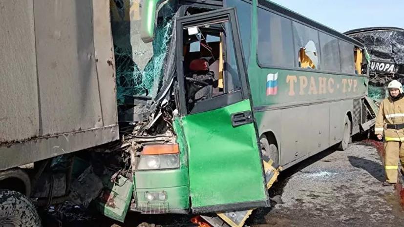 В Калмыкии шесть человек пострадали в ДТП с двумя автобусами