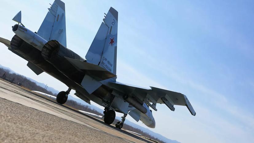 Лётчики Су-35 провели учения по практическому бомбометанию