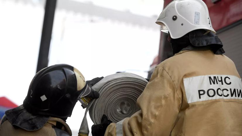 Пожар в складском помещении на севере Москвы ликвидирован