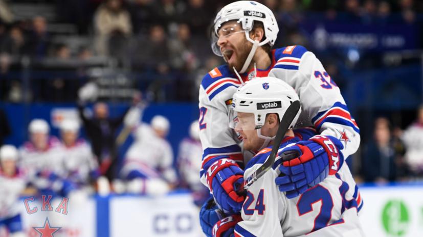 СКА одержал девятую победу подряд в КХЛ