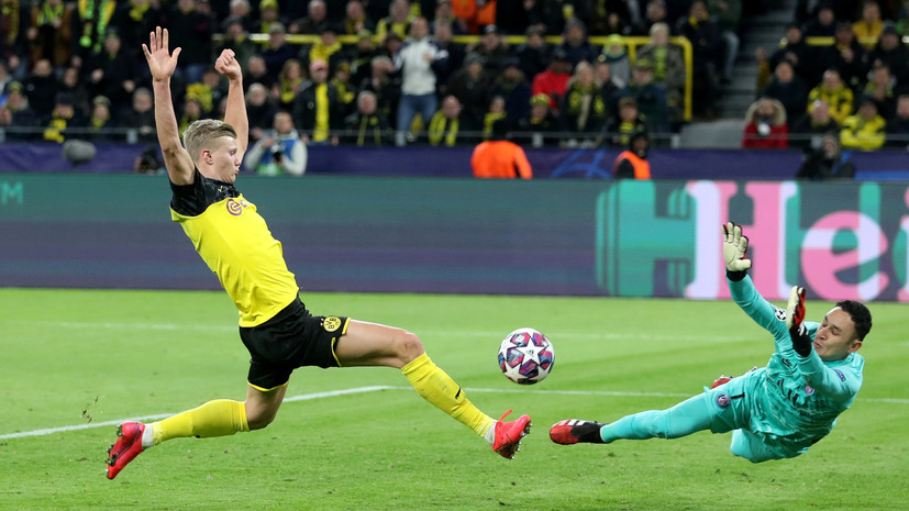 Холанд установил несколько рекордов в победном матче «Боруссии» с ПСЖ