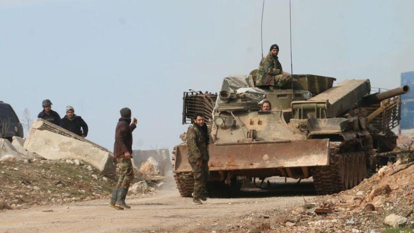 СМИ: Сирийская ПВО отражает атаку на окрестности города Джебла