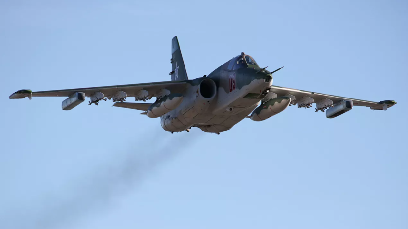 Штурмовик Су-25 загорелся на аэродроме под Липецком