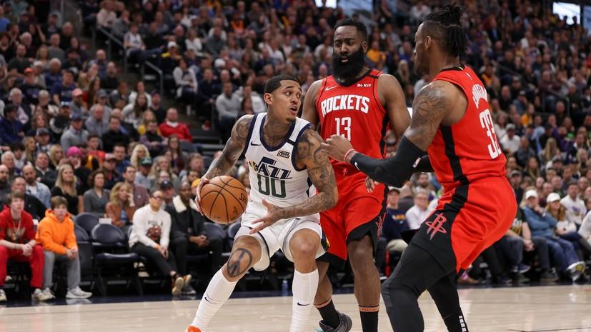 «Хьюстон» обыграл «Юту» в НБА, Харден и Уэстбрук набрали 72 очка на двоих