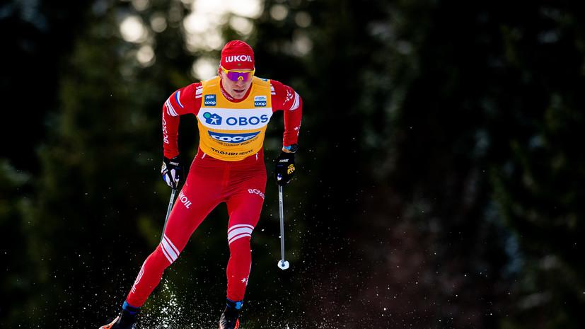Большунов бросил лыжи в рекламный щит после финиша на «Ски Туре»