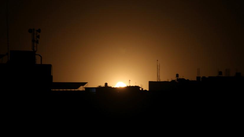 В Израиле заявили об ударе по целям в секторе Газа