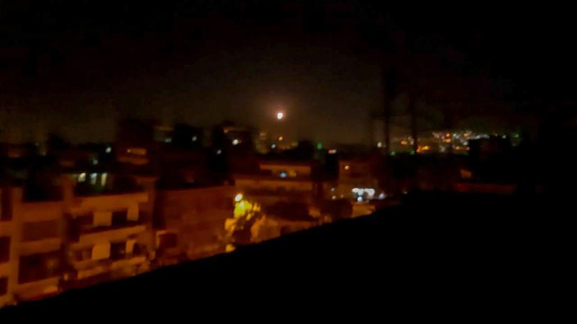 SANA: ПВО Сирии отражает атаки в небе над Дамаском