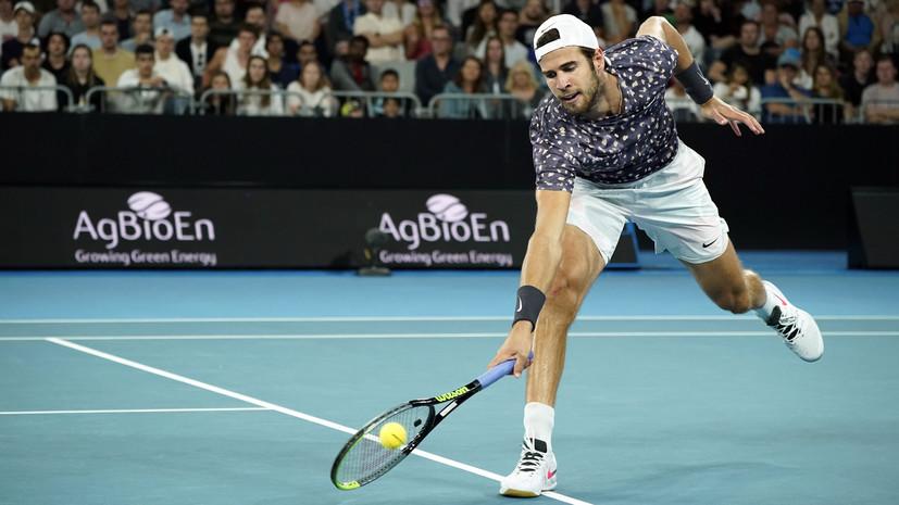 Хачанов: первый матч на турнире в Дубае получился непростым