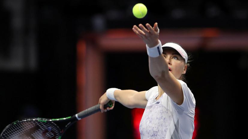 Звонарёва обыграла Сувэй на турнире WTA в Дохе