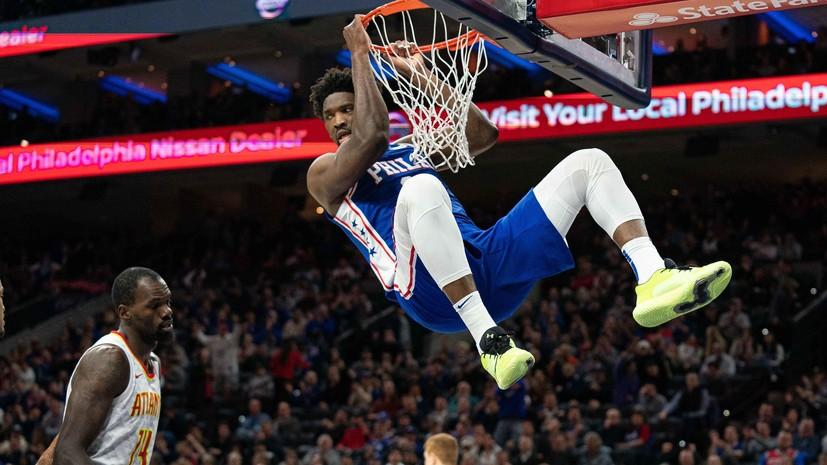 Дабл-дабл Эмбиида помог «Филадельфии» обыграть «Атланту» в НБА