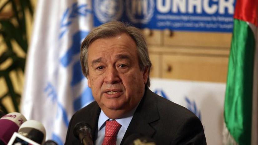 Генсек ООН прокомментировал ситуацию в сирийском Идлибе