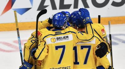 Швеция победила Чехию в матче домашнего этапа Еврохоккейтура