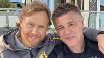 Валерий Карпин и Саво Милошевич