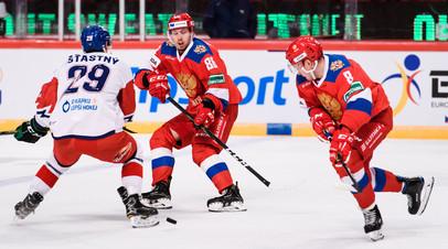 Россия по буллитам проиграла Чехии в матче Еврохоккейтура