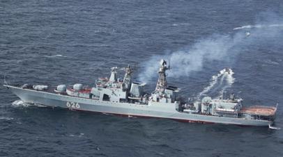 Вертолётчики Северного флота провели учения с экипажем БПК «Вице-адмирал Кулаков»