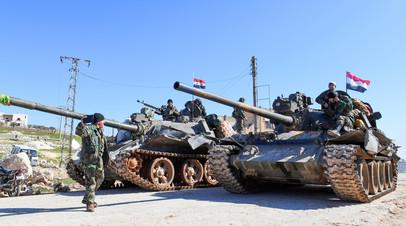 Сирийская правительственная армия продвигается в Идлибе