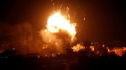 Израиль нанёс удар по объектам ХАМАС в ответ на запуск ракет из Газы