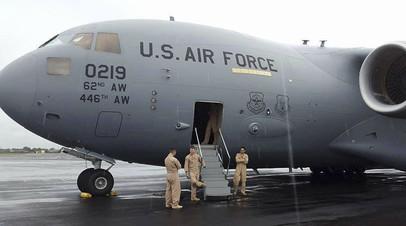 Самолёт ВВС США в Либерии