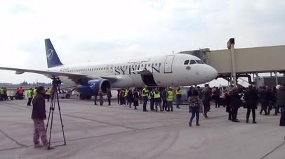 Аэропорт Алеппо принял первый за восемь лет пассажирский самолёт — видео