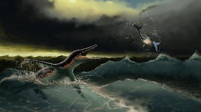 Плиозавры в представлении художника