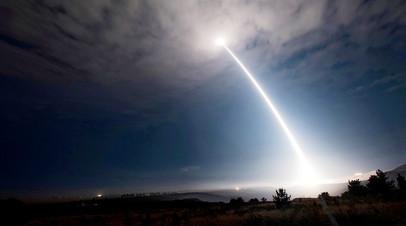 Тестовый пуск американской межконтинентальной баллистической ракеты Minuteman III