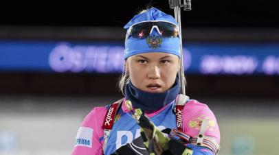 Сборная России завоевала серебро в смешанной эстафете на ЧЕ по биатлону