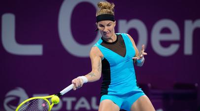 Кузнецова обыграла Бенчич и вышла в полуфинал турнира WTA в Дохе