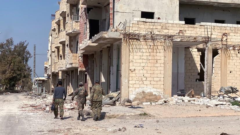 Сирийские военные нашли в Саракибе химические отравляющие вещества