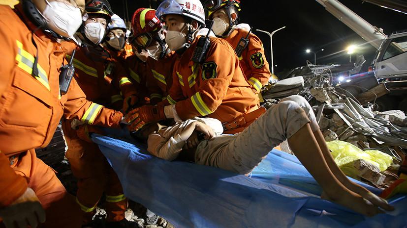 Число жертв обрушения отеля в Китае возросло до 20