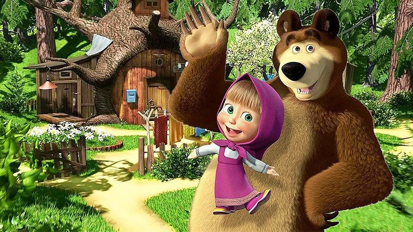 Мультфильм «Маша и Медведь» запустят на Центральном телевидении Китая