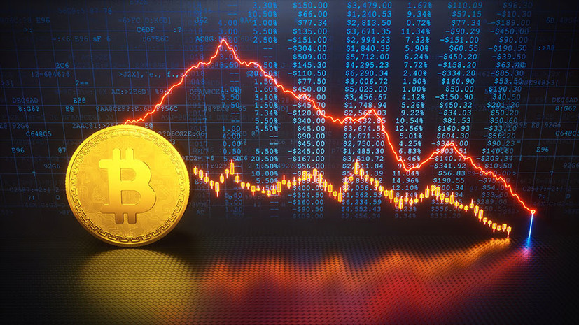 falling prices of cryptocurrencies