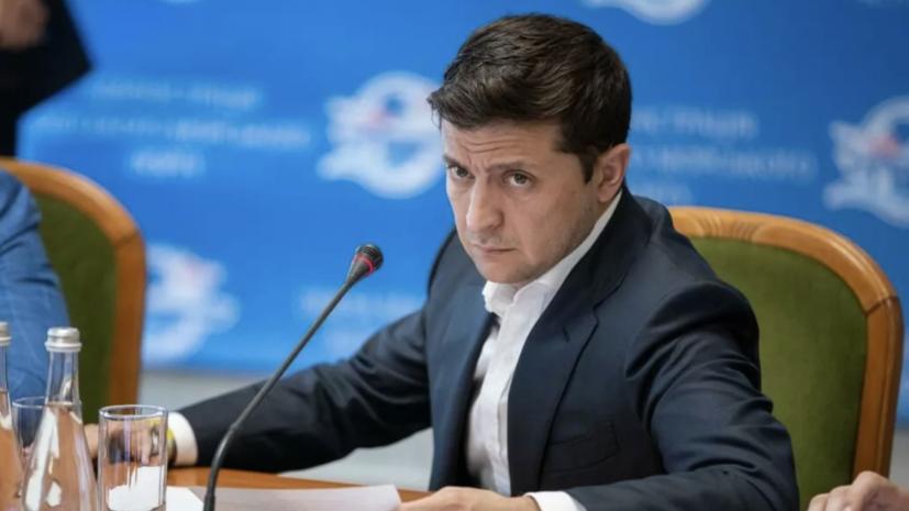Украинский телеканал наложил на обращение Зеленского титры об убийстве