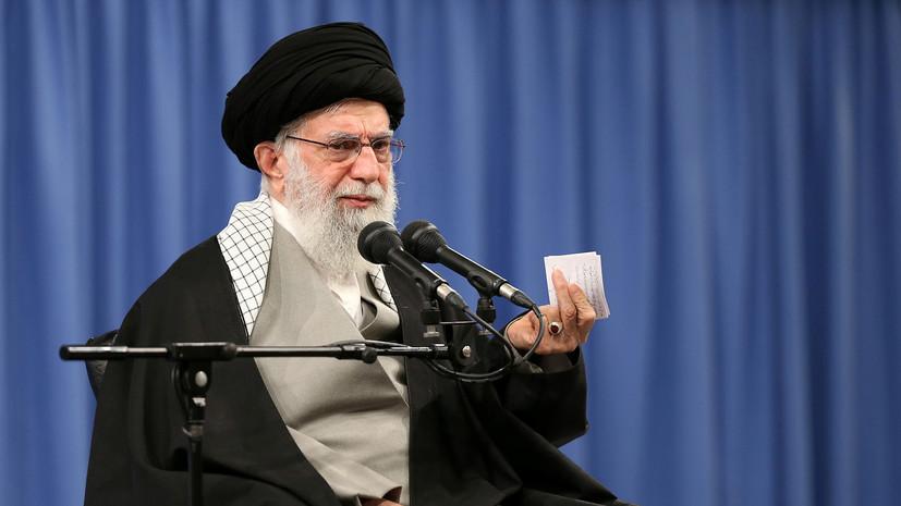 Хаменеи назвал странным предложение США помочь Ирану с коронавирусом