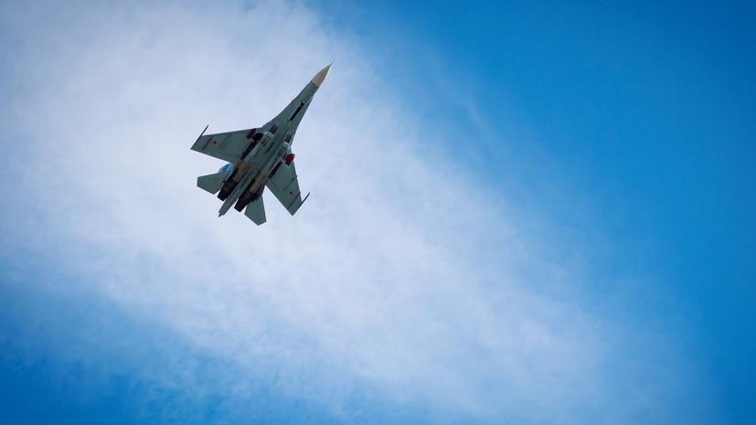 «Сложные метеоусловия»: спасатели ищут пилота пропавшего над Чёрным морем Су-27