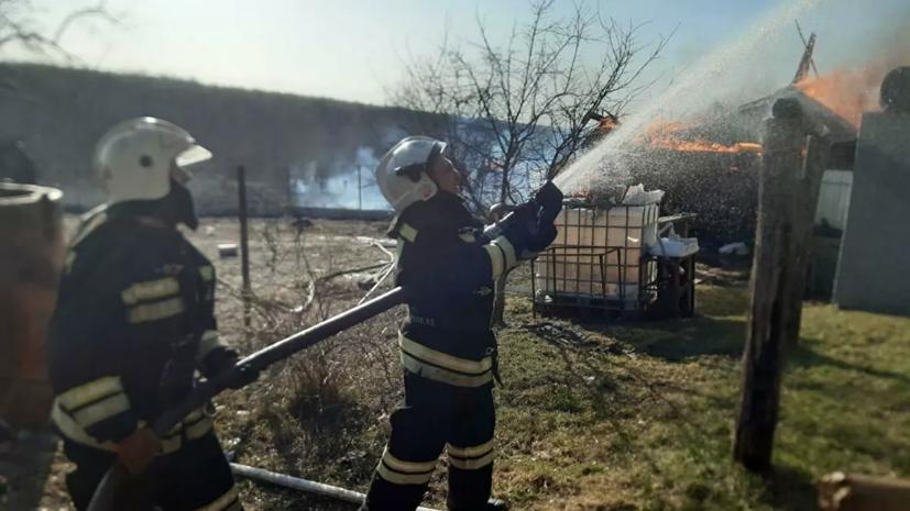 Открытое горение в пяти домах под Владимиром ликвидировано
