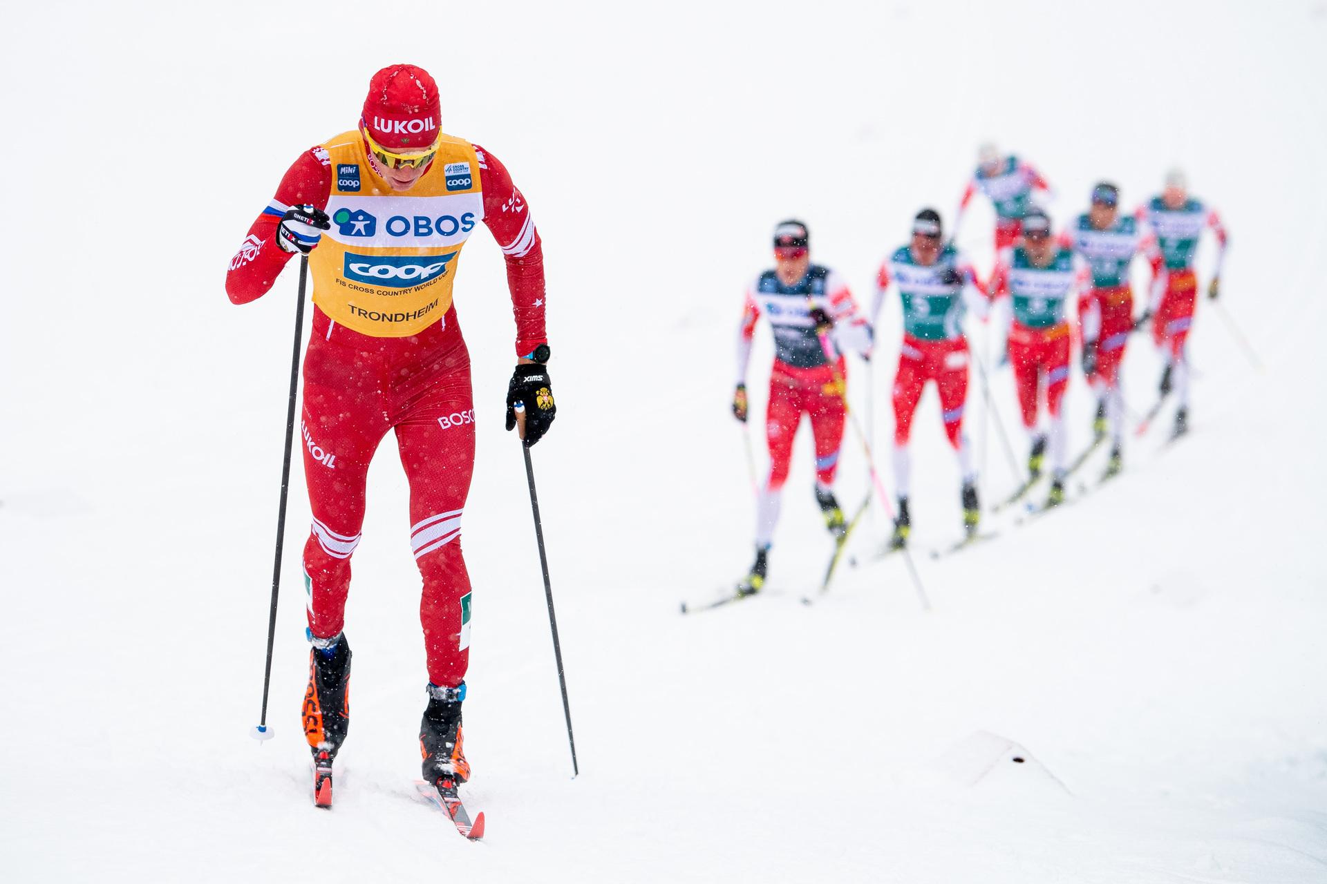 Александр Большунов на заключительном этапе Ски Тура 2020 в Тронхейме