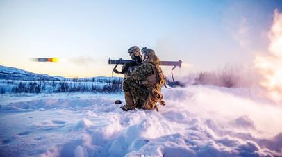 Военные НАТО во время учений в Норвегии